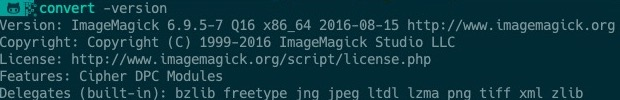 確認 ImageMagick 的版本
